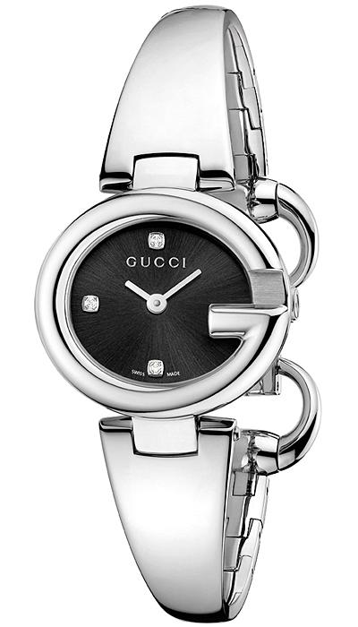 8576ed764a4 Gucci Guccissima Diamond Small Black Dial Womens Watch YA134505