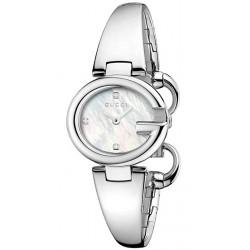 Gucci Guccissima Diamond Pearl Womens Small Size Watch YA134504