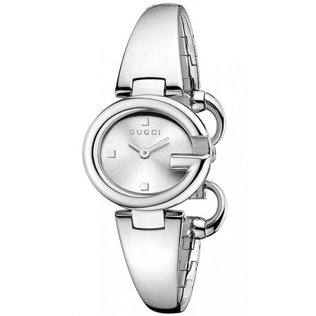 8dfdf75f902 Gucci Guccissima Small Size Silver Dial Womens Watch YA134502