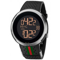 Gucci I-Gucci Digital Black Rubber Mens Watch YA114103