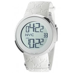Gucci I-Gucci Digital White Rubber Womens Watch YA114403