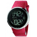 Gucci I-Gucci Digital Steel Case Red Rubber Mens Watch YA114212