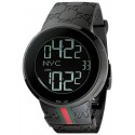 Gucci I-Gucci Digital Black Rubber Mens Watch YA114207