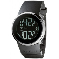 Gucci I-Gucci Digital Black Rubber Womens Watch YA114401