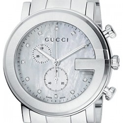 Gucci G-Chrono Diamond Pearl Steel Mens Watch YA101351