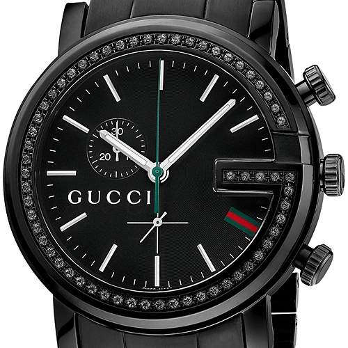 Gucci G-Chrono Black Diamond Mens Watch YA101347