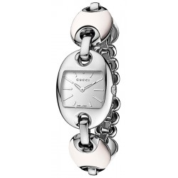 Gucci Marina Chain White Ceramic Bracelet Womens Watch YA121515