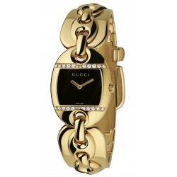 Gucci Marina Chain 18K Gold Diamond Womens Watch YA121513