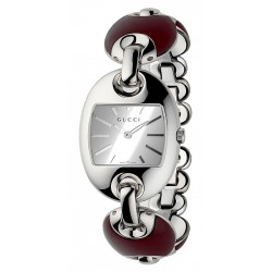 Gucci Marina Chain Brown Ceramic Steel Womens Watch YA121516