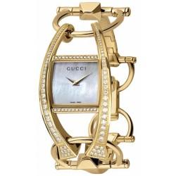 Gucci Chiodo Diamond 18K Yellow Gold Womens Watch YA123508
