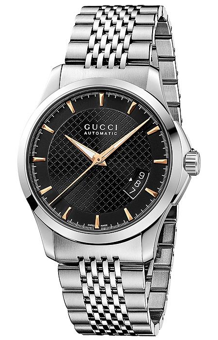 b41aeead6c1 Gucci G-Timeless Automatic Steel Black Dial Mens Watch YA126420