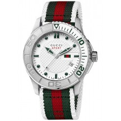Gucci G-Timeless Sport Web Nylon Strap Mens Watch YA126231