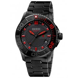 Gucci G-Timeless Sport Black PVD Bracelet Mens Watch YA126230