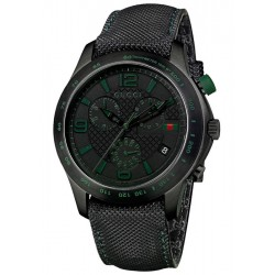 Gucci G-Timeless Chronograph Black PVD Mens Watch YA126225