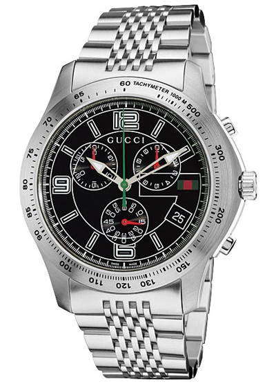 5443a322ce6 Gucci G-Timeless Chronograph Steel Black Mens Watch YA126205