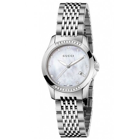 5f602e285eb Gucci G-Timeless Diamond Bezel Steel Bracelet Watch YA126510