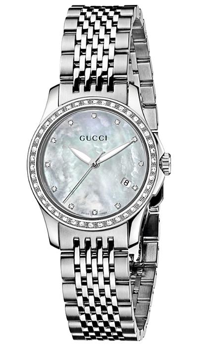 63ccd81c5a2 Gucci G-Timeless Diamond Steel Bracelet Womens Watch YA126508