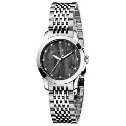 Gucci G-Timeless Diamond Black Pearl Dial Womens Watch YA126505