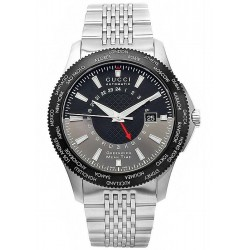 Gucci G-Timeless GMT Automatic Steel Bracelet Watch YA126211