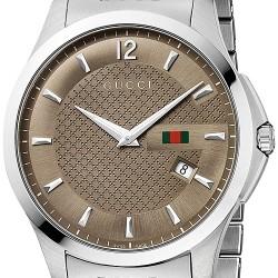08e8d87b874 Gucci G-Timeless Slim Fit Steel Bracelet Mens Watch YA126310
