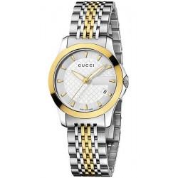 Gucci G-Timeless Small Gold Steel Bracelet Womens Watch YA126511