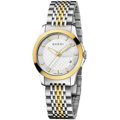 cec4c09c3c0 Gucci G-Timeless Small Gold Steel Bracelet Womens Watch YA126511
