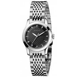 Gucci G-Timeless Small Steel Bracelet Womens Watch YA126502