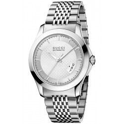 Gucci G-Timeless Automatic Steel Bracelet Mens Watch YA126417