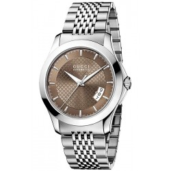 Gucci G-Timeless Automatic Steel Brown Mens Watch YA126412