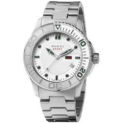 Gucci G-Timeless Sport Steel Bracelet Mens Quartz Watch YA126232