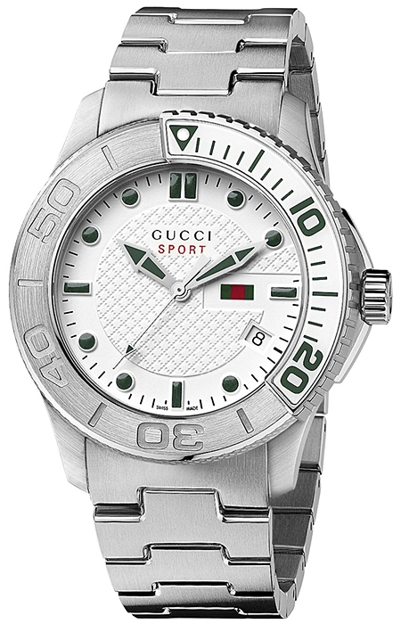 e762da070 Gucci G-Timeless Sport Steel Bracelet Quartz Watch YA126232