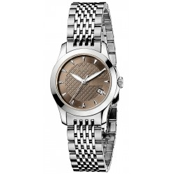 Gucci G-Timeless Steel Bracelet Brown Womens Watch YA126503