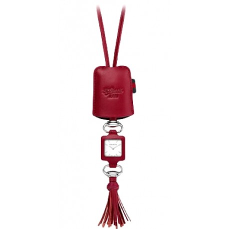 Gucci Gucci-1932 Red Leather Pendant Womens Watch YA130418