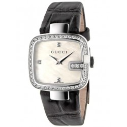 Gucci G-Gucci Small Size Diamond Bezel Womens Watch YA125515