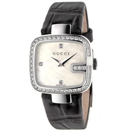 Gucci G-Gucci Small Size Diamond Bezel Womens Watch YA125515