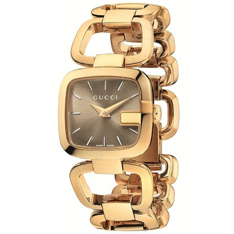 Gucci G-Gucci Small Size Yellow Gold PVD Womens Watch YA125511