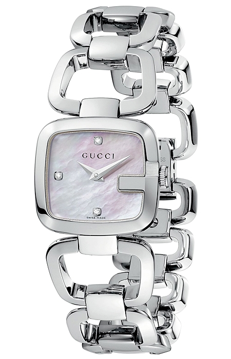 0cf43d9ec10 Gucci G-Gucci Diamond Dial Steel Bracelet Womens Watch YA125502