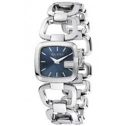 Gucci G-Gucci Small Steel Bracelet Blue Womens Watch YA125508