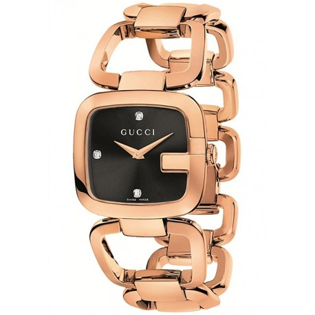 Gucci G-Gucci Medium Rose Gold PVD Steel Womens Watch YA125409