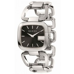Gucci G-Gucci Medium Size Steel Bracelet Womens Watch YA125407