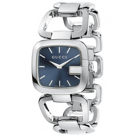 Gucci G-Gucci Blue Dial Steel Case Bracelet Watch YA125405
