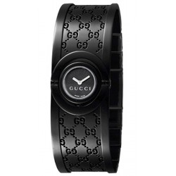 Gucci Twirl Small Black PVD Womens Watch YA112531