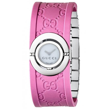 Gucci Twirl Small Pink Rubber Womens Watch YA112522