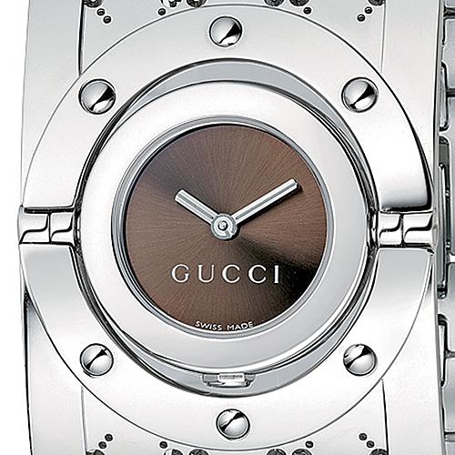 ae52619ff0c Gucci Twirl Large Steel Womens Watch YA112401