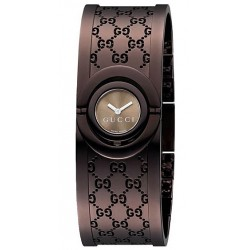 Gucci Twirl Small Brown PVD Womens Watch YA112532