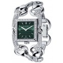 Gucci Signoria 18K White Gold Diamond Womens Watch YA116306