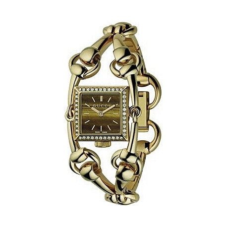 Gucci Signoria 18K Yellow Gold Diamond Womens Watch YA116509
