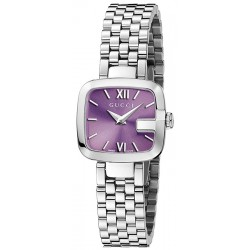 Gucci G-Gucci Small Steel Lilac Dial Womens Watch YA125518