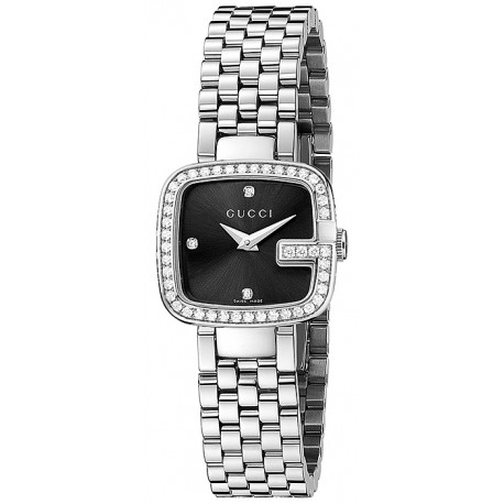 Gucci G-Gucci Black Diamond Dial Womens Watch YA125520