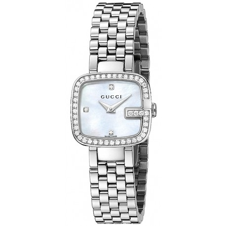Gucci G-Gucci Diamond Bezel All Steel Womens Watch YA125519
